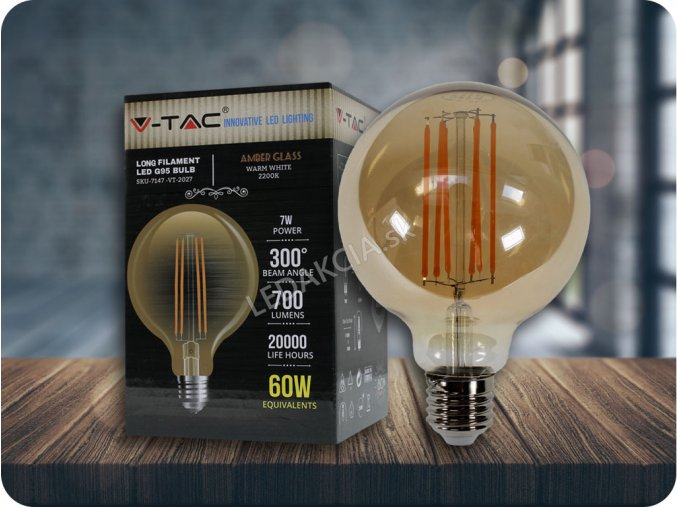 E27 LED FILAMENT RETRO ŽIAROVKA 7W, Warmweiß 2200