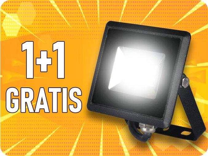LED reflektor E-Series SMD, 10W (850lm), čierny, 1+1 zadarmo!