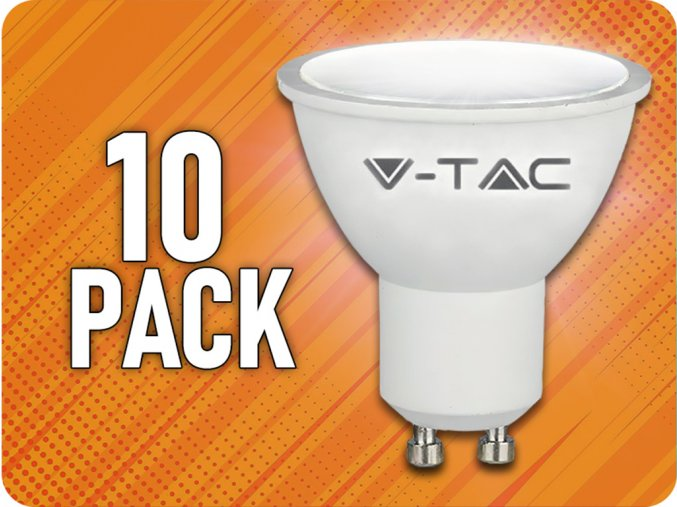 GU10 LED Žiarovka 5W, balenie 10 kusov!