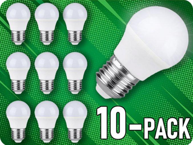 E27 LED Žiarovka 4W, G45, balenie 10 kusov!