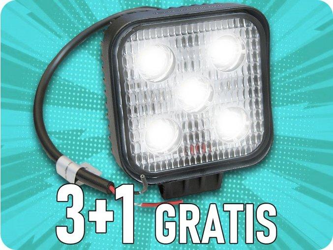Pracovné LED svetlo 5x3W, mini, 3+1 zadarmo!