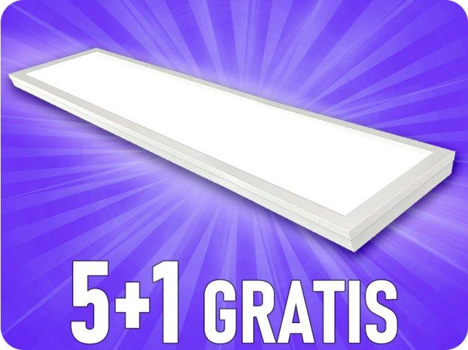 40W LED prisadený panel s napájacím zdrojom, 120x30 cm, 4000lm, 5+1 zadarmo!
