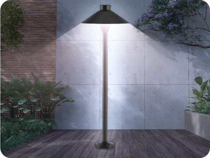 LED záhradné zapichovacie svietidlo, 7W, 420lm, 71cm, SAMSUNG CHIP,  IP65, čierne