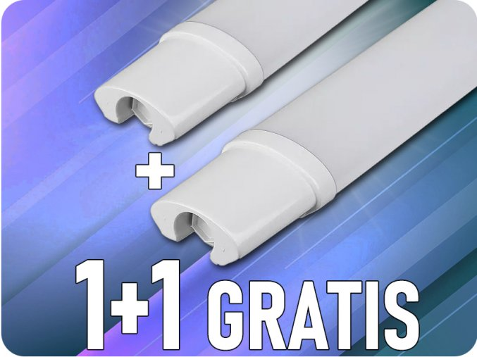 LED Vodeodolná lampa S-series 18W, 1530lm, IP65, 60cm, 1+1 zadarmo!