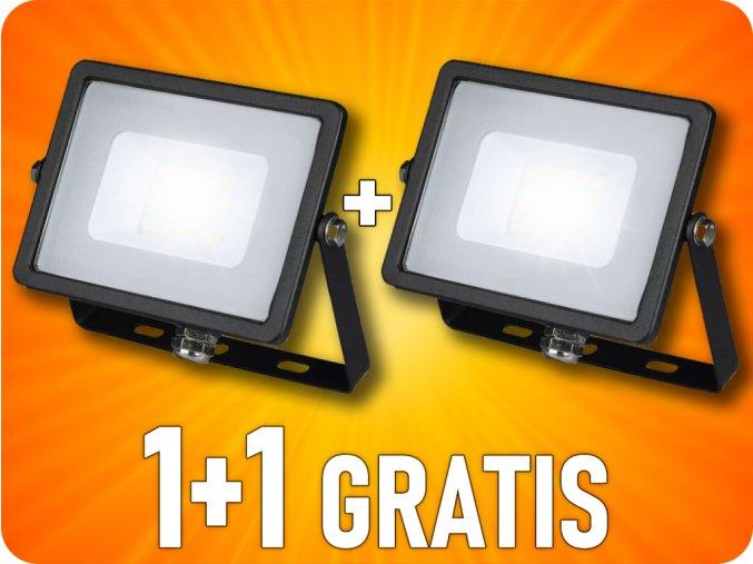 LED REFLEKTOR 20W, 1600LM, SAMSUNG CHIP, ČIERNY, 1+1 zadarmo!