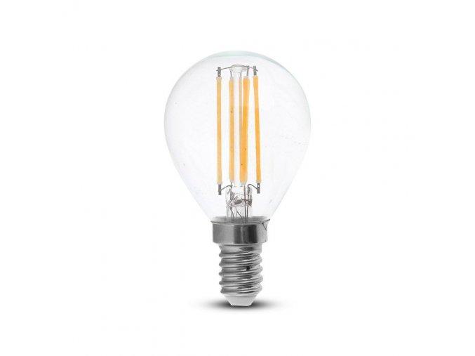 E14 LED RETRO FILAMENT žiarovka 4W, p45
