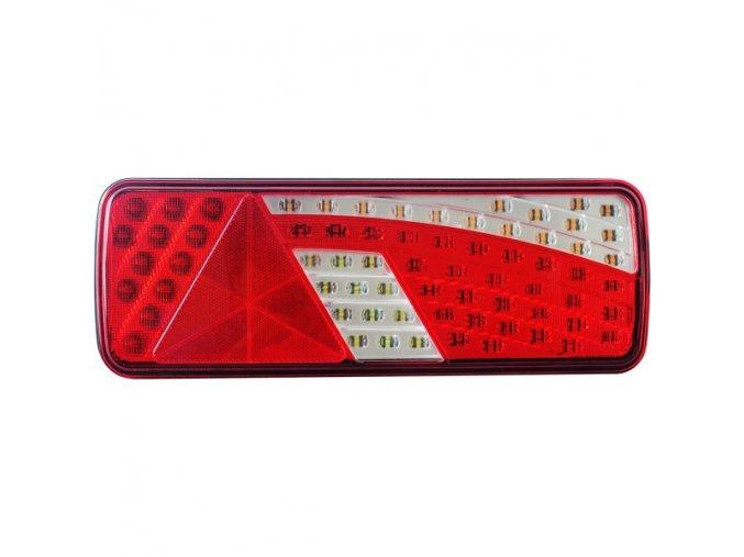 Zadné 62xLED svetlo na kamión, 12-24V, pravé