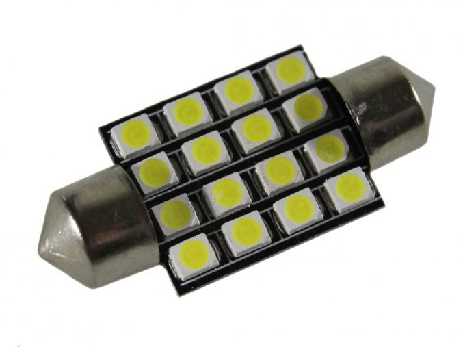 Led autožiarovka C5W, 16 x led, 36mm