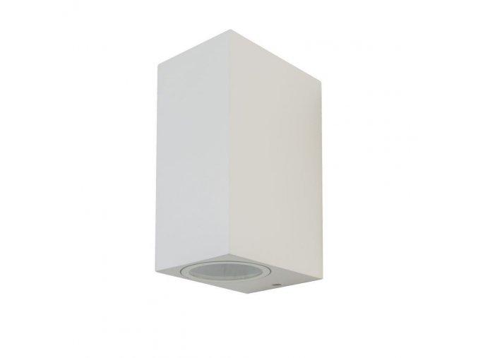Nástenné led svietidlo 2xGU10, Biele,Hranaté, IP44