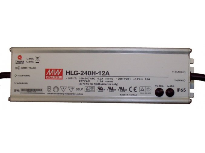 HLG-240H-12A MEAN WELL LED ZDROJ, IP65