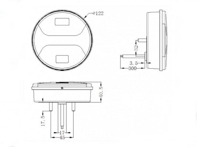 Zadné 34xLED svetlo na kamión, 12-24V, lavé/pravé  + Zdarma záruka okamžitej výmeny !