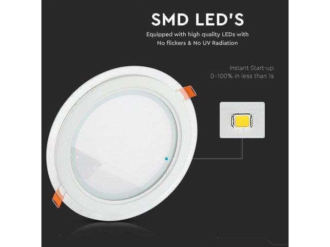 LED panel okrúhly, 18W, 1260lm