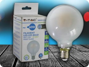 E 27 LED FILAMENT FROST COVER ŽIAROVKA 7W, G95