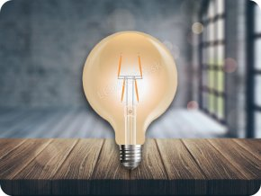 E27 LED FILAMENT RETRO ŽIAROVKA 4W, Warmweiß 2200K