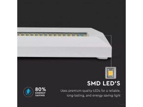 VT-1162 3W LED STEP LIGHT COLORCODE:4000K WHITE BODY RECTANGLE