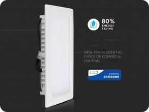 18W LED vstavaný panel s napájacím zdrojom, štvorcový (1500Lm), SAMSUNG chip