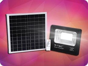 Solárny panel so solárnym reflektorom, 20W, 1650lm, IP65, 10000mAh, 6000K