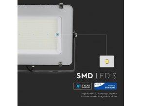 200W LED reflektor, 120lm/W, (24000lm), čierny, Samsung chip