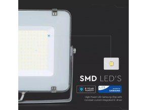 200W LED reflektor, 120lm/W, (24000lm), sivý, Samsung chip