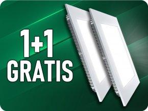 18W LED vstavaný panel s napájacím zdrojom, štvorcový  (1500LM), 1+1 zadarmo!
