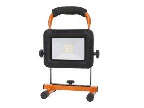 Solight LED reflektor, prenosný, nabijací,  20W, 1600lm, oranžovo-čierny