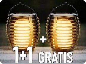 Solárne svietidlo plameň do zeme/na stenu, 0.45W (5lm), 1700K, IP44, 1+1 zadarmo!