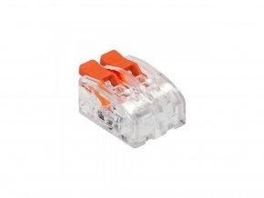 Spojka na káble 2PIN mini, zacvakávacia,  0.2-4mm2,450V/32A