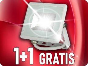 10W LED reflektor E-Series SMD (850lm), biely, 1+1 zadarmo!