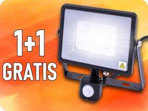 30W LED reflektor so senzorom SMD, SAMSUNG chip, 1+1 zadarmo!