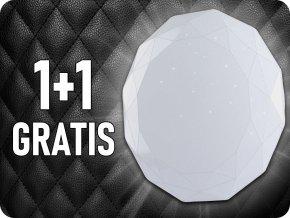 LED Designer svietidlo 60W, 4200LM, s diaľkovým ovládaním CCT, stmievateľné, tvar diamantu, 1+1 zadarmo!