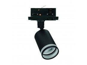Koľajnicové svietidlo MADARA MINI OPAL RING, vymeniteľný zdroj, GU10, 3-fázové, čierne