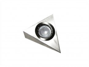 Nástenné svietidlo na G4, 12V, IP45, trojuholníkové bez vypínača, nerez