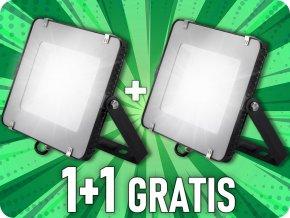 LED REFLEKTOR 150W, SAMSUNG CHIP, 12000LM, ČIERNY, 1+1 zadarmo!
