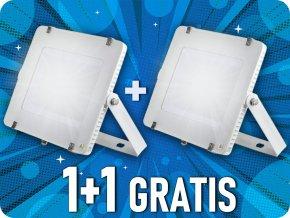 300W LED reflektor (24000lm), SAMSUNG chip, biely, 1+1 zadarmo!
