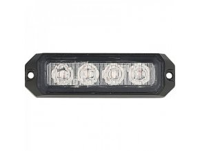 LED CREE výstražné svetlo, 12W, 12-24V oranžové, IP67