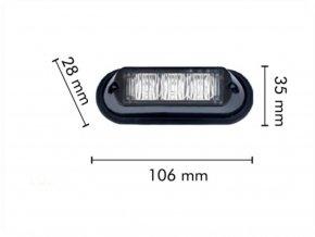 LED CREE výstražné svetlo, 9W, 12-24V oranžové, IP67