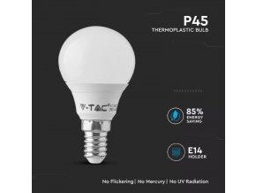 E14 LED ŽIAROVKA 5.5W, P45, SAMSUNG CHIP - ZÁRUKA 5 ROKOV  + Zdarma záruka okamžitej výmeny !