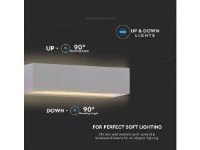 9W Nástenné LED svietidlo, UP&DOWN, šedé, IP65