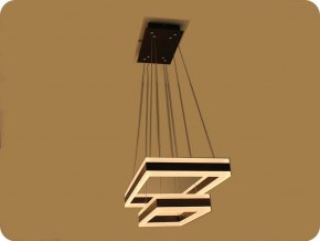 LED Luster 100W (7500LM), coffee farba, Soft Light, 3000K