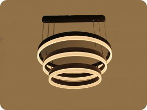 LED Luster 92W (5925LM), coffee farba, Soft Light, 3000K