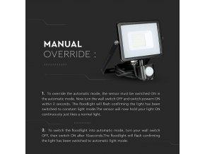 20W LED reflektor so senzorom SMD, SAMSUNG chip