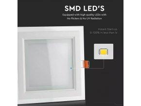 LED PANEL 18W, SKLENENÝ, 1260lm (Farba svetla Studená biela 6000 - 6400K)