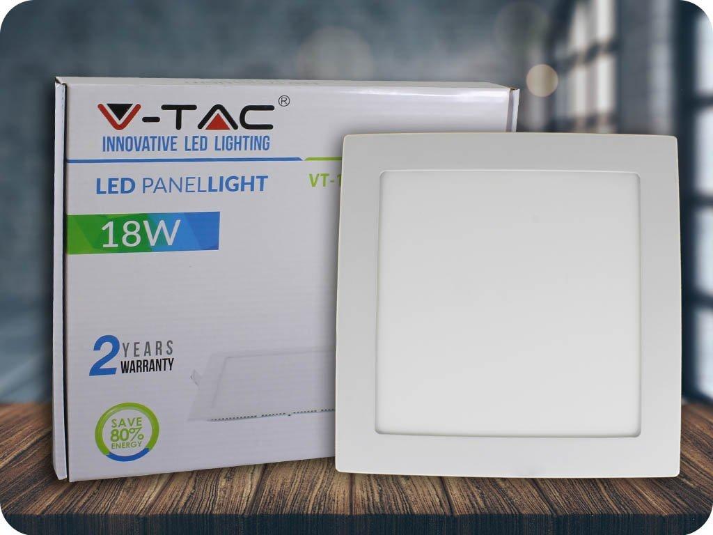 Panel LED 18W (1500Lm), kwadratowy