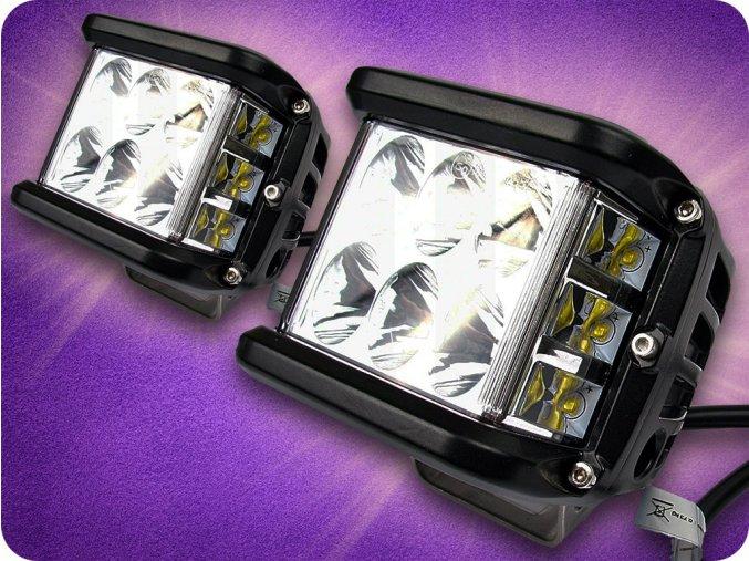 LED LAMPA ROBOCZA, KWADRATOWA 45W, IP67, 6000K, 2SZT.-SET