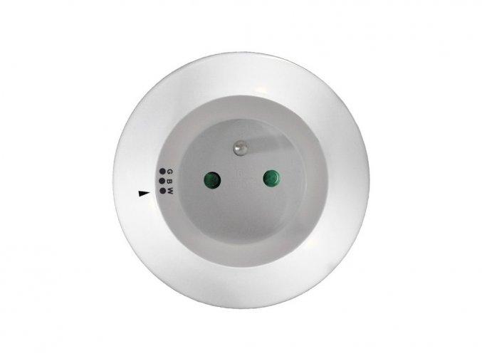 Solight nocne LED światełko z gniazdkiem przelotow 3 barwy światła, czujnik
