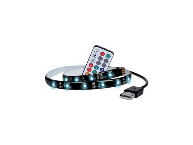 Taśma LED do TV, RGB, ze sterowaniem, 2x50cm