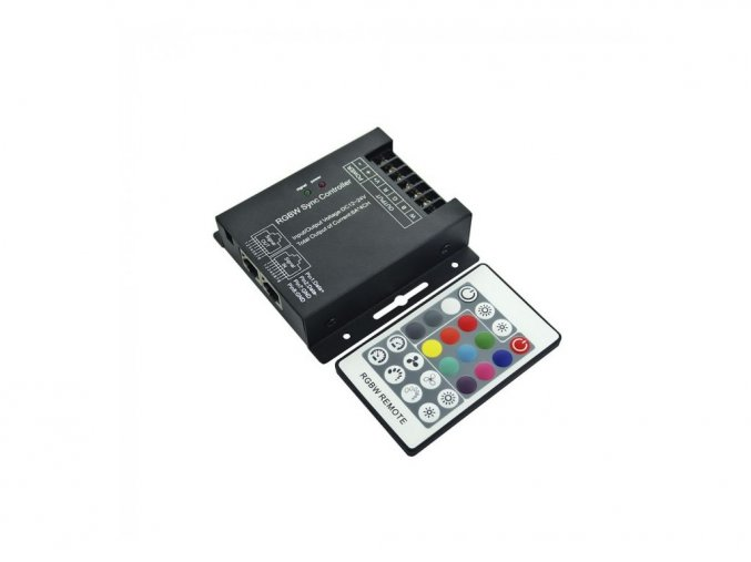 LED RGB+W KONTROLER/ŚCIEMNIACZ, 4 kanały, 12V: 288W, 24V:576W