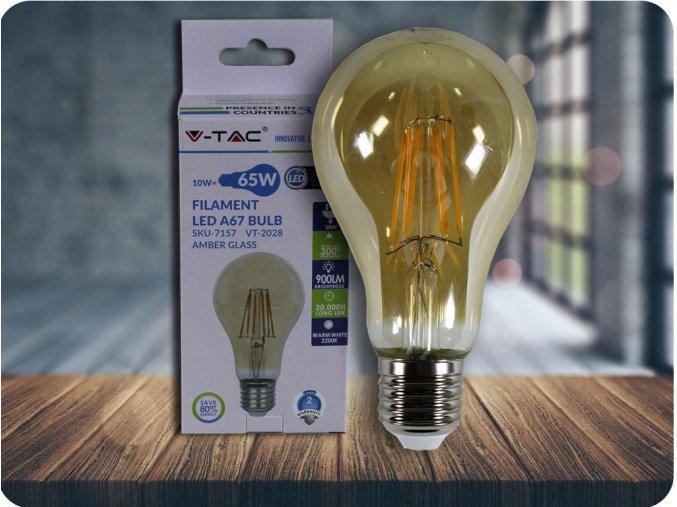 E27 LED FILAMENT RETRO ŻARÓWKA 10W (900 lm), 2200K, A67