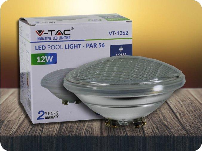 Lampa basenowa LED 12W (1200lm), PAR56, 12V, IP68, NIEBIESKA
