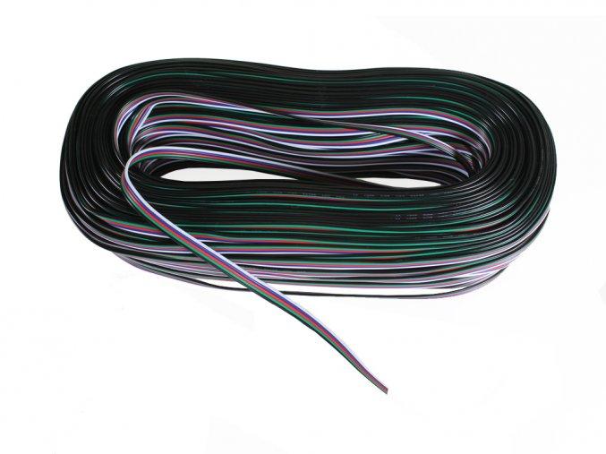 PRZEWÓD RGB + W, 5-ŻYŁOWY, 5x0,45mm, 1m